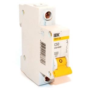 Автоматический выключатель ВА47-29 (1ф) 25А IEK (12/144)