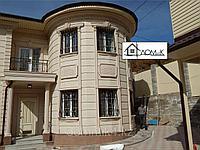 Фасад дома из пенополистирола под травертин