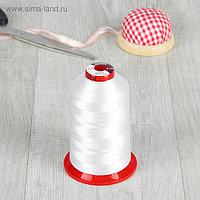 Нитки для вышивания, 5000 м, № 130, цвет белый