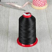 Нитки для вышивания, 5000 м, № 130, цвет чёрный