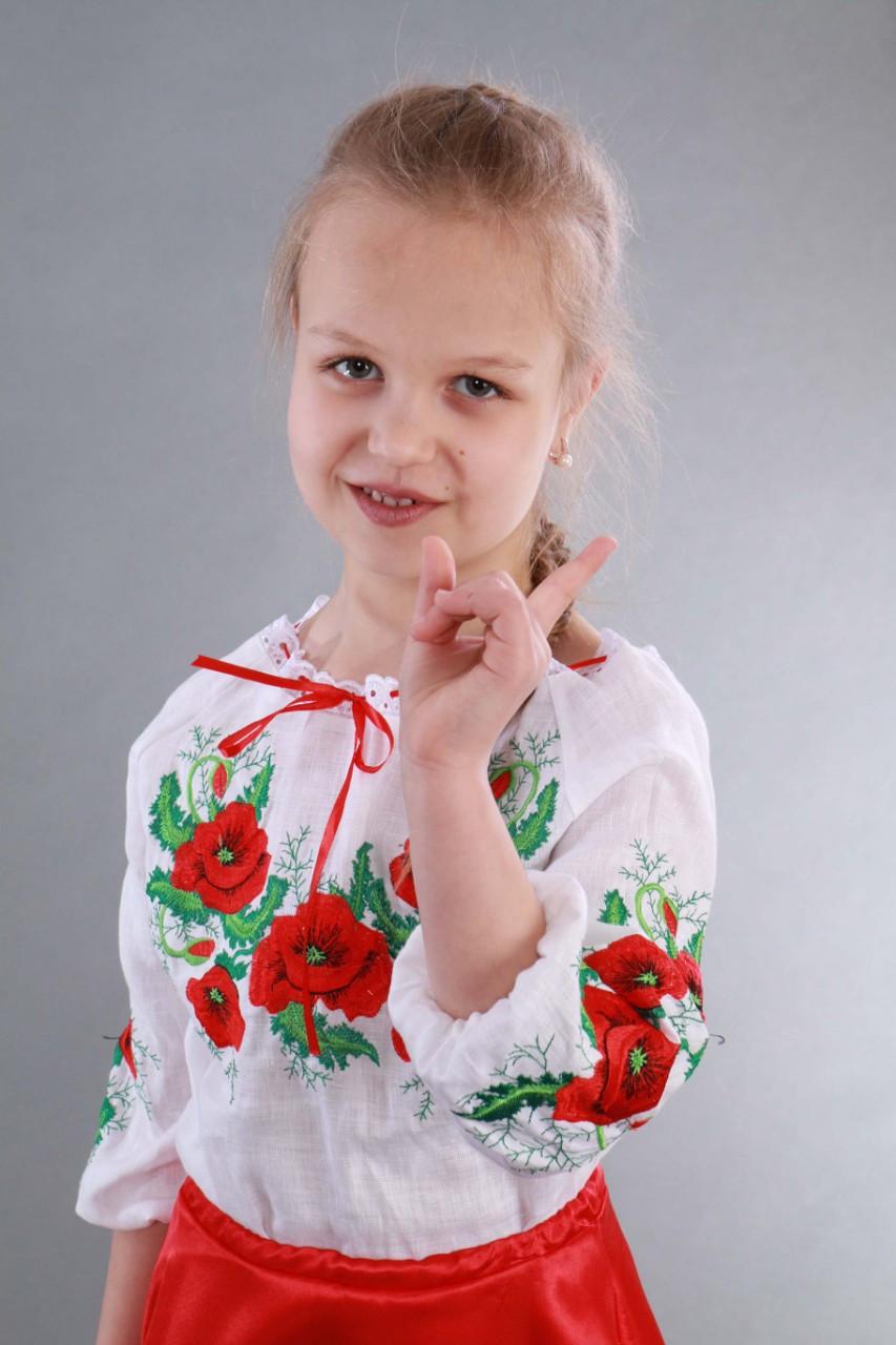 """Вышиванка для девочки """"Мак и Укроп"""" - фото 5"""