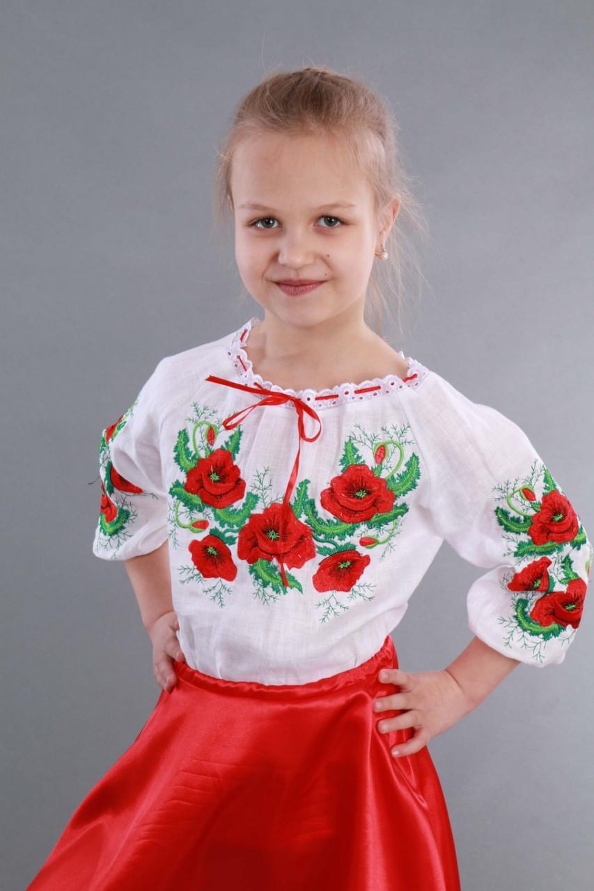 """Вышиванка для девочки """"Мак и Укроп"""" - фото 3"""