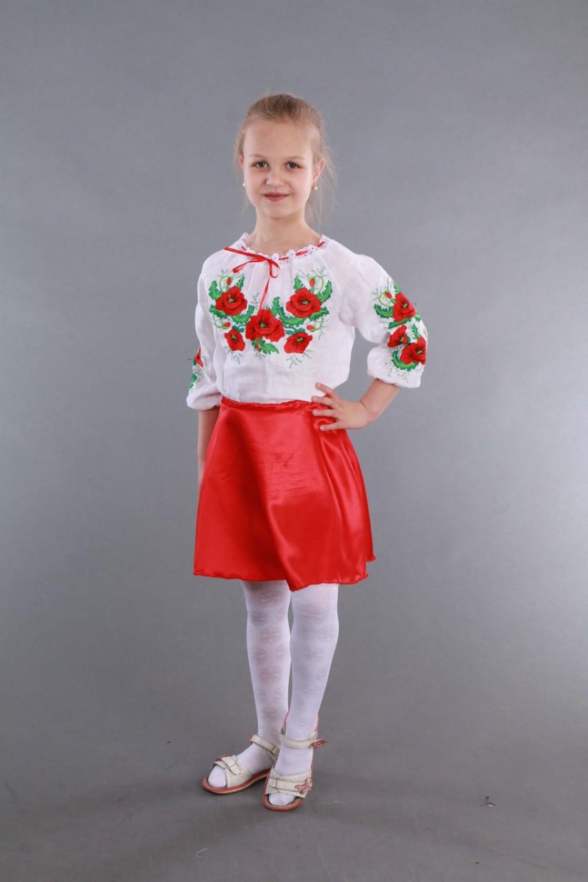 """Вышиванка для девочки """"Мак и Укроп"""" - фото 6"""