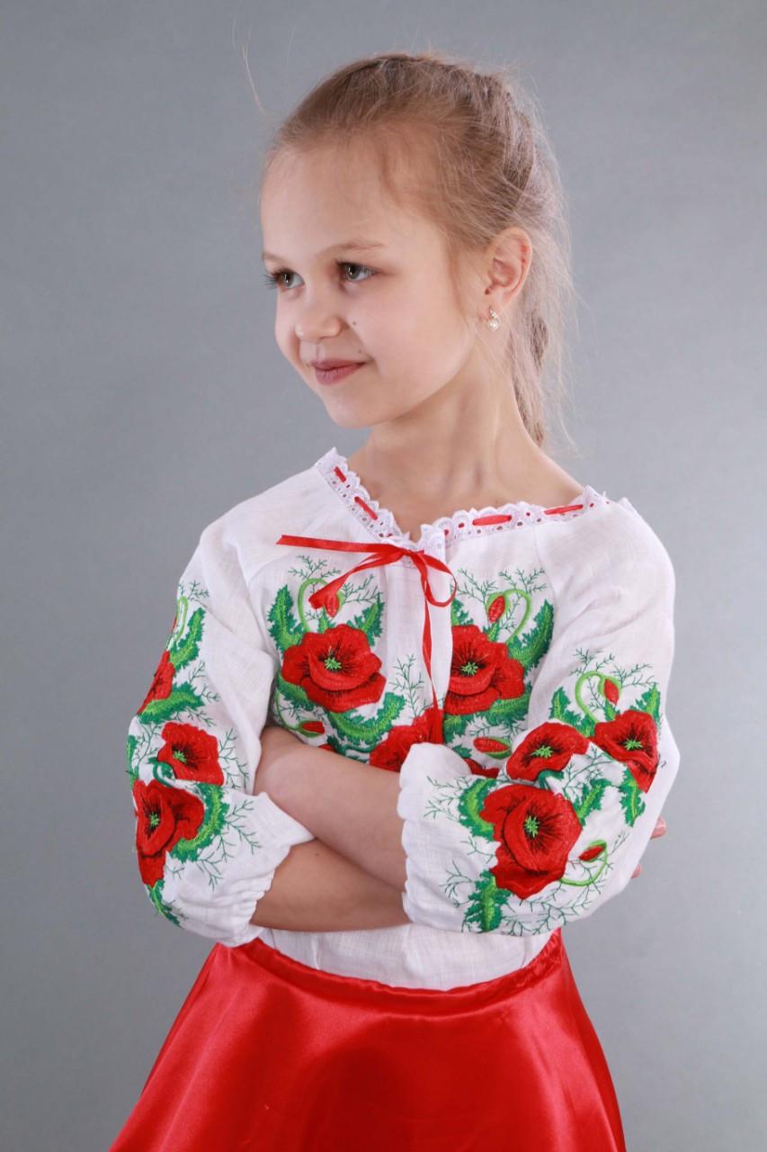 """Вышиванка для девочки """"Мак и Укроп"""" - фото 7"""