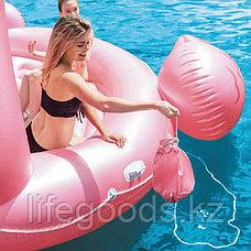 "Надувной остров ""Фламинго"" 422x373x185см, Intex 57267, фото 2"