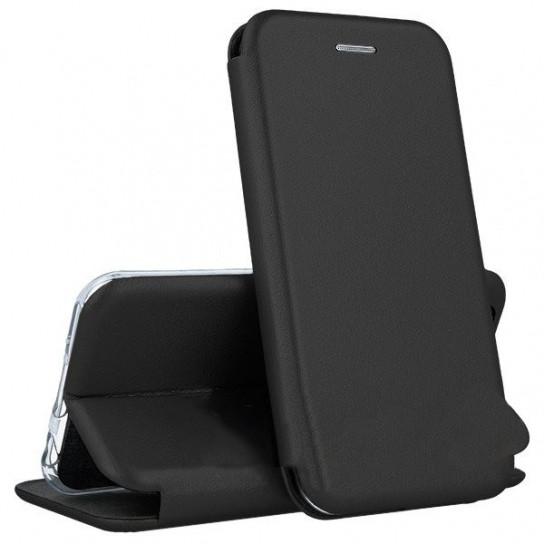 Кожаный книжка-чехол Open case для Samsung Galaxy J6 PLUS (черный)