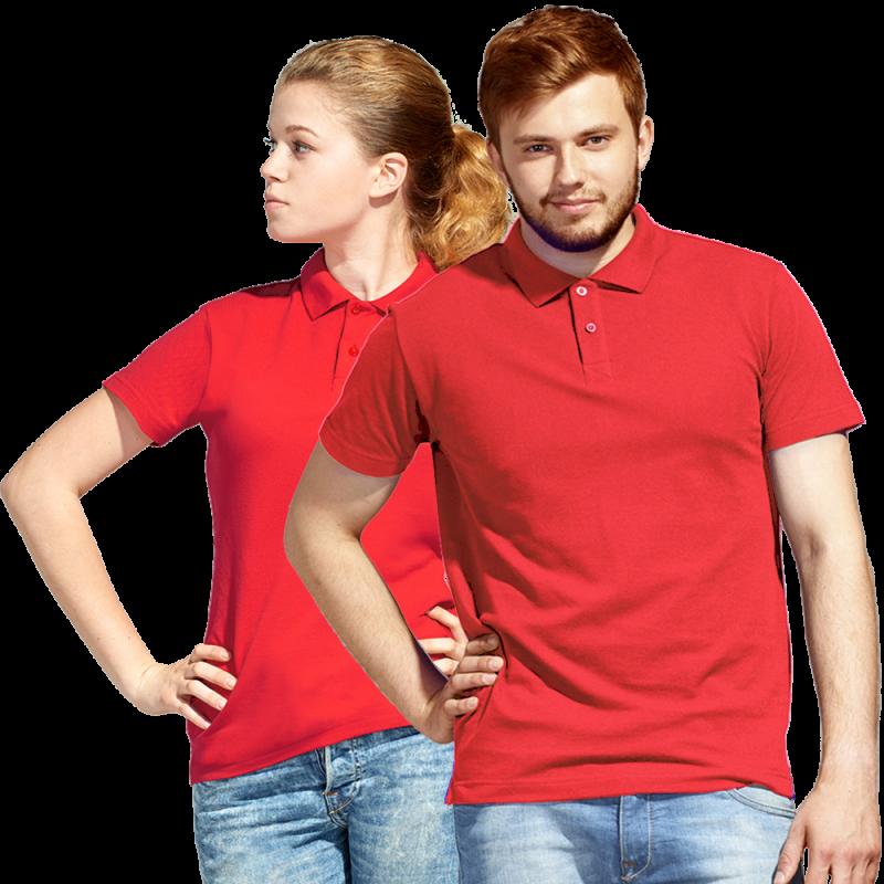 Рубашка поло унисекс, StanUniform, 04U, Красный (14), 5XL/60-62