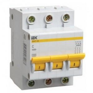 Автоматический выключатель ВА47-29 (3ф)  2А IEK (4/48)