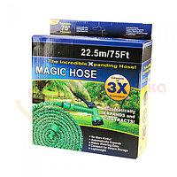 Шланг Magic-hose 22,5 метров, садовый шланг, растягивающийся шланг для полива с распылителем, фото 1