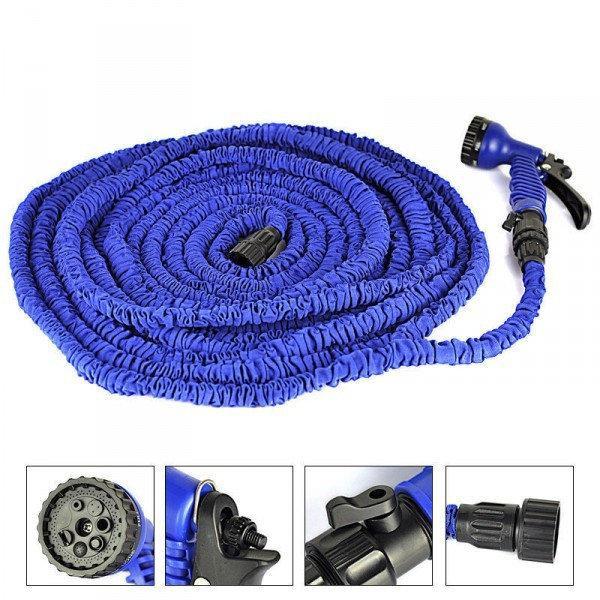 Шланг Magic-hose 30 метров, садовый шланг, растягивающийся шланг для полива с распылителем