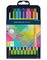 """Линер """"Schneider Line-Up"""", 0,4мм, ассорти, 8 штук в пластиковой упаковке"""