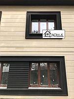 Обрамление фасада коттеджа