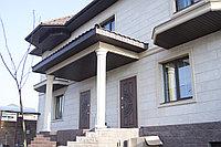 Фасадные панели под травертин, колонны, межэтажный пояс, оконные и дверные обрамления