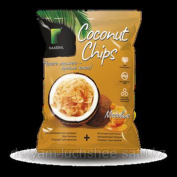 Кокосовые чипсы с натуральным мёдом 40 грамм