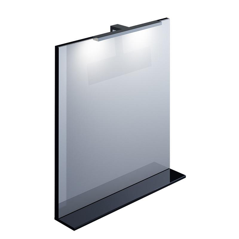 Зеркало с полкой черное IDDIS CUSTO 70