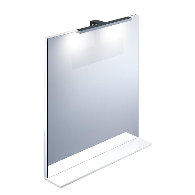 Зеркало с полкой белое IDDIS CUSTO 70