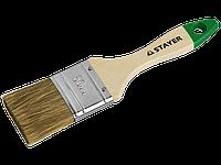Кисть плоская LASUR 20 мм, серия STANDART, STAYER