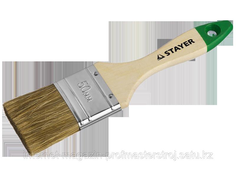 Кисть плоская LASUR 25 мм, серия STANDART, STAYER