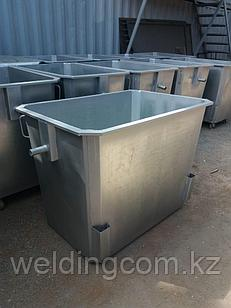 Мусорный контейнер оцинкованный 1,1 куб. на ножках