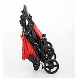 Коляска прогулочная Glamvers Bruno с накидкой на ножки Красный / Red, фото 4