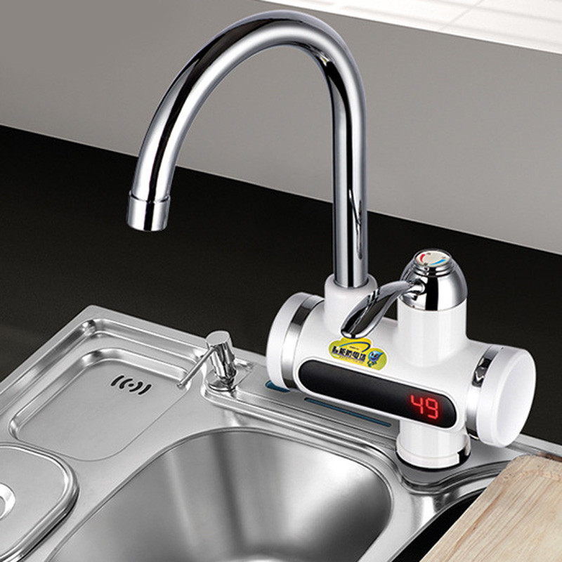 Проточный электрический кран водонагреватель мгновенный с LED дисплеем Instant Electric - фото 4