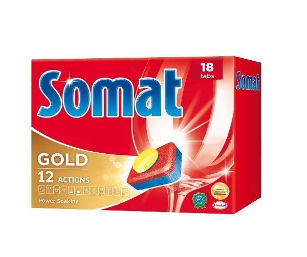 Капсулы SOMAT GOLD для мытья посуды 18 табл