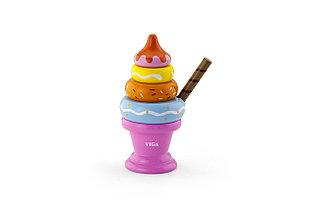 """Игрушка - пирамида """"Мороженое"""" розовый"""
