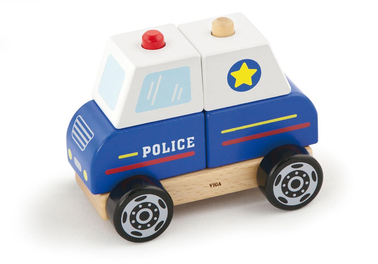 """Деревянная игрушка """"Полицейская машина"""""""