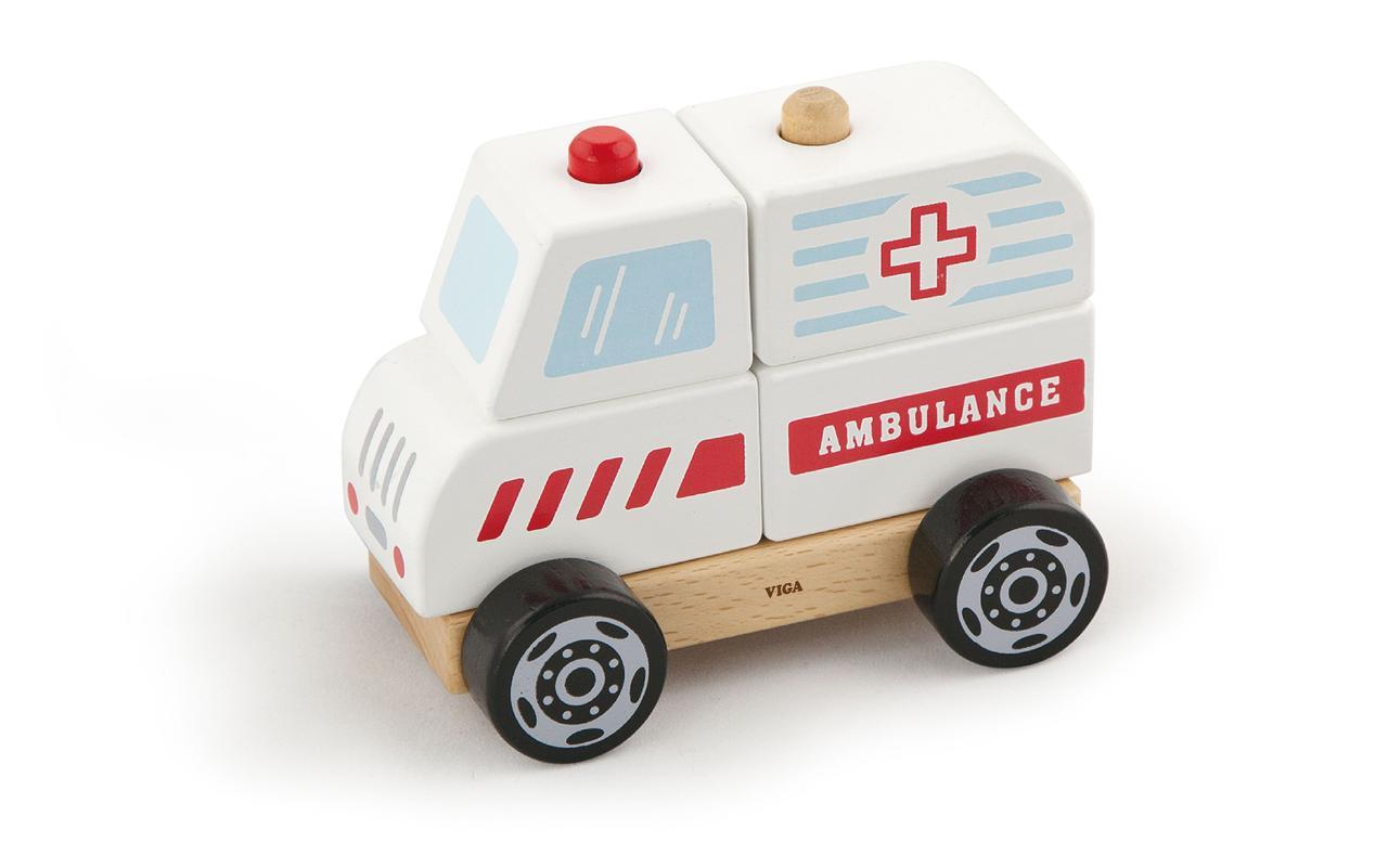 """Деревянная игрушка """"Машина скорой помощи"""""""