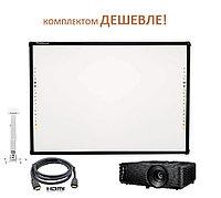 Интерактивный комплект доска S82 + проектор Optoma S334e, фото 1