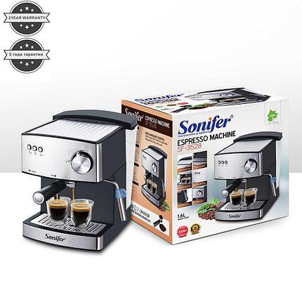 Кофемашина Sonifer 3528 полуавтоматическая с капучинатором, фото 2