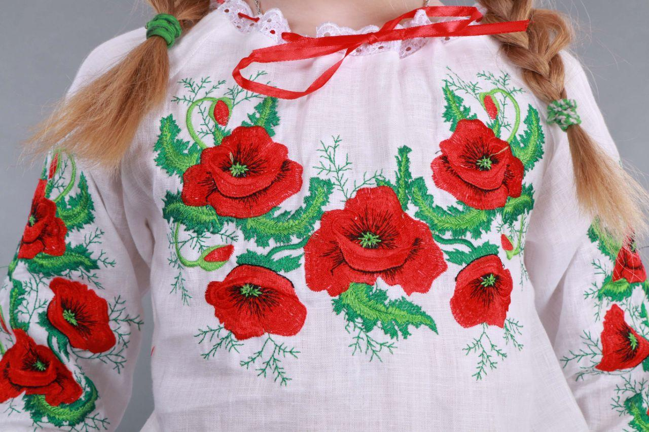 """Вышиванка для девочки """"Мак и Укроп"""" - фото 8"""