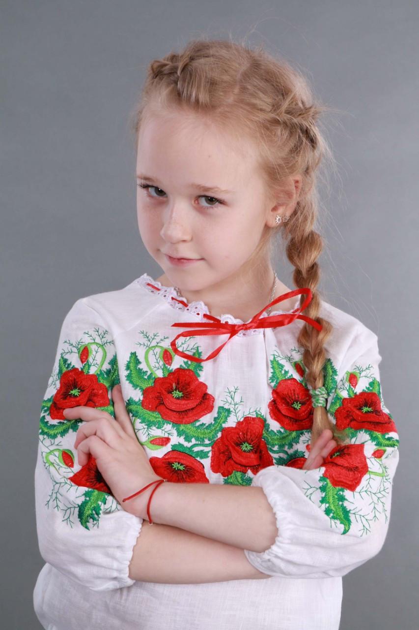 """Вышиванка для девочки """"Мак и Укроп"""" - фото 10"""