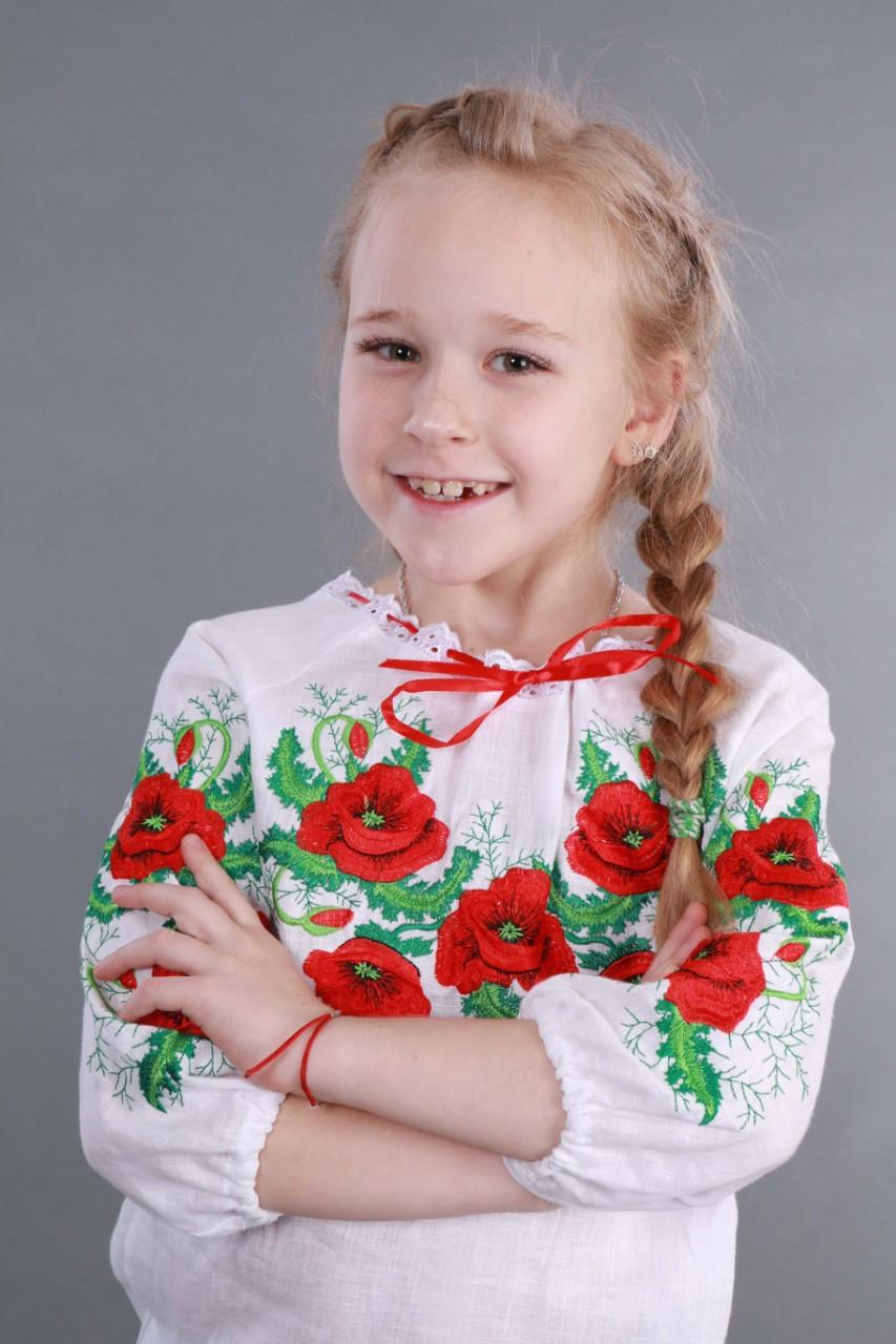 """Вышиванка для девочки """"Мак и Укроп"""" - фото 9"""