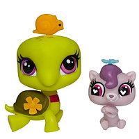 Зверушка Littlest Pet Shop и ее малыш - Ozzie Shellstein, фото 1