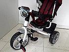 Трехколесный велосипед с родительской ручкой широкие колеса, фото 9