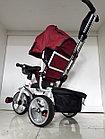 Трехколесный велосипед с родительской ручкой широкие колеса, фото 3