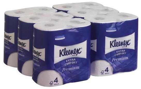 туалетная бумага в стандартных рулонах мягкая четырёхслойная