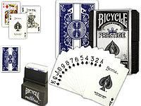 Карты Bicycle Prestige Plastic Cards Blue Deck