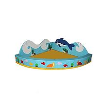 Сухой бассейн-трансформер угловой с аппликацией (разборный, мягкое дно) Объем: 0,6 м3