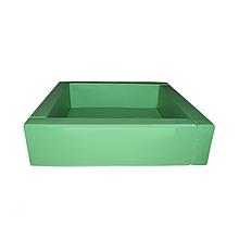 Сухой бассейн на каркасе – квадратный, разборный,  мягкое дно 5 см. объем 0,8 м3, вес 20 кг.