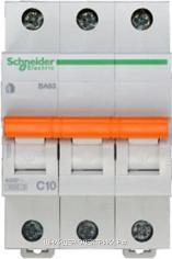 Автоматический выключатель 11222 ВА 63 3P 10A (C) 4.5kA Schneider Electric
