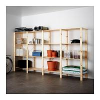 4 секции/полки, ХЕЙНЕ хвойное дерево ИКЕА, IKEA, фото 1
