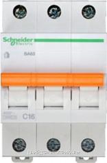 Автоматический выключатель 11223 ВА 63 3P 16A (C) 4.5kA Schneider Electric