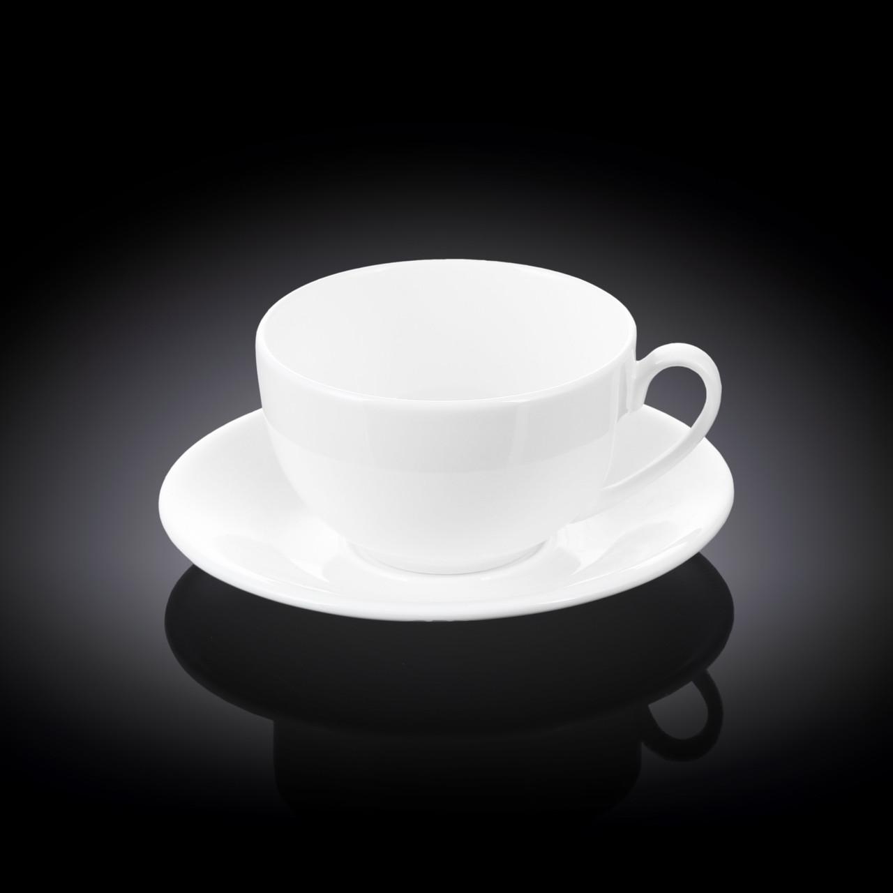 Чайная чашка и блюдце Wilmax 250 мл