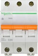 Автоматический выключатель 11224 ВА 63 3P 20A (C) 4.5kA Schneider Electric