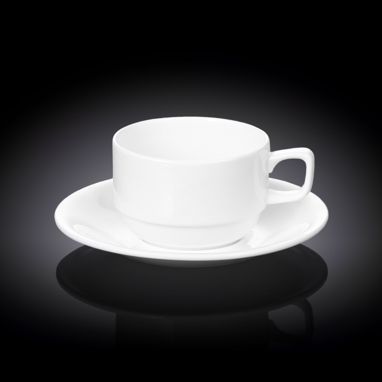 Чайная чашка и блюдце Wilmax 220 мл