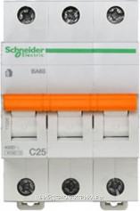 Автоматический выключатель 11225 ВА 63 3P 25A (C) 4.5kA Schneider Electric