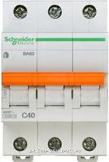 Автоматический выключатель 11227 ВА 63 3P 40A (C) 4.5kA Schneider Electric