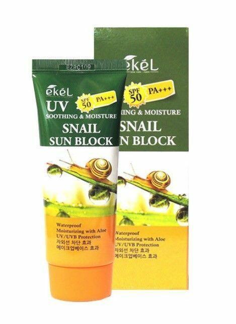 Солнцезащитный крем с муцином улитки Ekel  UV Snail Sun Block  SPF50/PA+++, 70 мл.